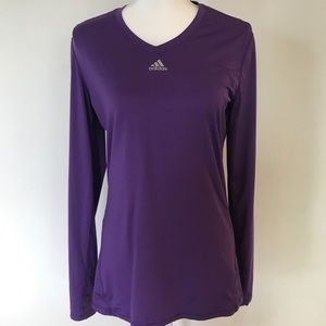 Adidas dri-fit Clima long sleeve purple top size M